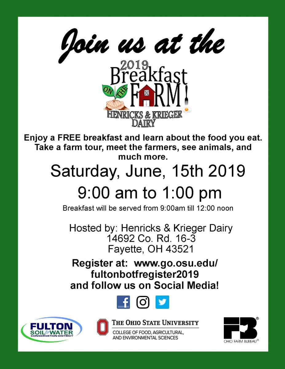 2019 Breakfast On The Farm
